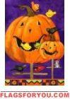 Pumpkin Birdhouse Garden Flag