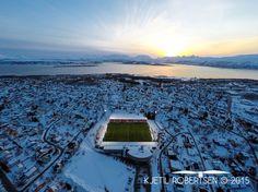 The football stadium in Tromsø, Norway