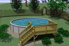 Popular Above Ground Pool Deck Ideas. This is just for you who has a Above Ground Pool in the house. Having a Above Ground Pool in a house is a great idea. Tag: a budget small yards Above Ground Pool Landscaping, Backyard Pool Landscaping, Backyard Pergola, Landscaping Ideas, Acreage Landscaping, Backyard Gates, Small Pergola, Pergola Swing, Pergola Ideas