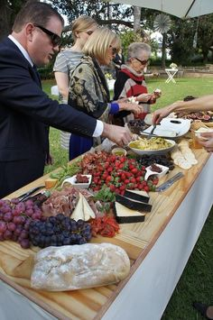 Love the idea of tables with giant platters and everyone help themselves