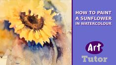 Learn how to paint asunflower in watercolour with artist Jonne Thomas in this watercolour painting tutorial. SUBSCRIBE: http://www.youtube.com/subscription_c...