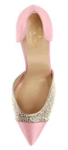 Pink and Glitter Kate Spade pumps