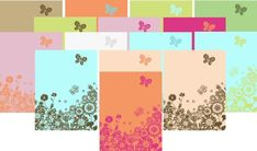 "Free Printable Scrapbook Backgrounds, ""Meadows Collection"""
