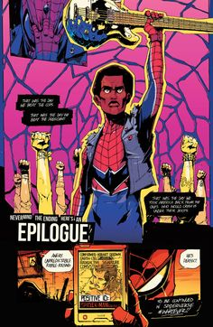 "towritecomicsonherarms: "" Hobart ""Hobie"" Brown aka Spider-Punk Spider-Verse #2 """