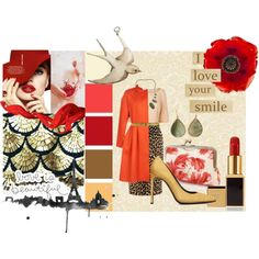 """""""Red Flower"""" by rainbowbubbles64-1 on Polyvore"""