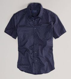 American Eagle men's shirt. Tailor it, unbutton the bottom, tie at the waist, wear with girly skirts.