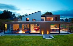 Bronze clad extension in Lenzie by Cameron Webster Architects.