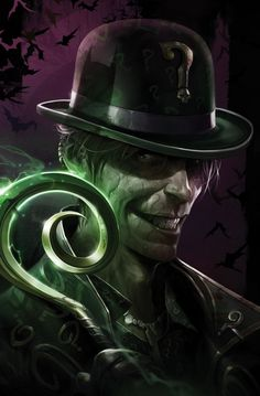 The Riddler by Francesco Mattina - DC Comics. Gotham Villains, Comic Villains, Dc Comics Characters, Dc Comics Art, Fictional Characters, The Riddler, Batman Riddler, Joker Batman, Batman Universe
