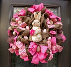Easter Wreath Spring Wreaths Bunny Wreath Conni by LuxeWreaths