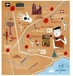 Martin Haake - Wine map of Piedmont and Liguria