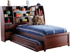 Ivy League 5 Pc Twin Bookcase Wall Bed