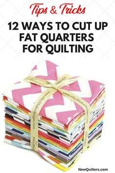 12 Ways to Cut Fat Quarters for Quilting How to Cut up Fabric Fat Quarters for Quilting. What are fabric fat quarters, and how can you use them for quilting? See lots of different ways to cut your fat quarters into useful sizes. Beginner Quilt Patterns, Baby Quilt Patterns, Quilting For Beginners, Quilting Tips, Quilting Patterns, Beginner Quilting, Quilting Tutorials, Quilting Projects, Fat Quarter Quilt Patterns