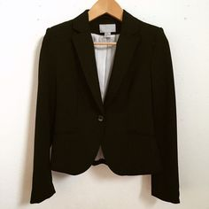 H&M Blazer Jacket Single buttoned H&M blazer jacket in good condition. Solid black shell and striped lining with 4 buttons at cuff packets. H&M Jackets & Coats Blazers