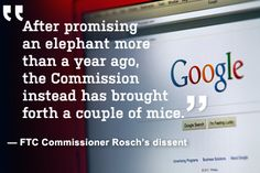 FTC Commissioner J. Thomas Rosch's dissent in Google's antitrust ruling