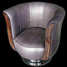 #GreatGatsby, #ArtDeco, #Interiors, Art deco club chair