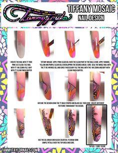 """Tammy Taylor Nails """"Tiffany Mosaic"""" Nail Design"""