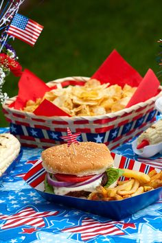 Creative burger ideas for July 4th http://www.kansascitysteaks.com/4th-of-July-Essentials.2.htm
