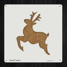 Reindeer 2 Style 2269 DIY Stencil Clear Plastic Acrylic Mylar Reusable by StencilLetter on Etsy https://www.etsy.com/listing/217273671/reindeer-2-style-2269-diy-stencil-clear