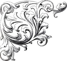 Scrolls Corner Ornament Image, found by Karen Watson in a book of ornaments from the 1870s