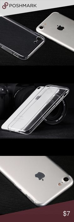 """iPhone 7 / 7 Plus clear Soft Case NEW!!!        Beautiful Case  For iPhone 7 (4.7"""")and 7 Plus (5.5"""") . Installing it is super easy and the fit is tight and secure. The completely cute design allows you to show off the beautiful design of your iPhone 7 / 7 Plus  This case is made from high-quality soft TPU, so it will remain clear and clean for a very long time.  You won't find a nicer case. Accessories Phone Cases"""