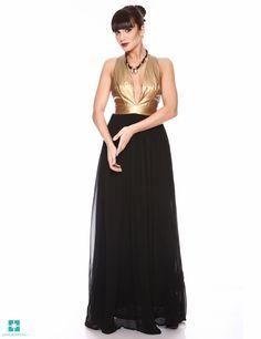 Rochie MADISON - Negru/Auriu Prom Dresses, Formal Dresses, Fashion, Dresses For Formal, Moda, Formal Gowns, Fashion Styles, Formal Dress, Gowns