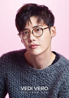 Designer line Vedi Vero has chosen Lee Jong Suk as their muse for the 2016 F/W campaign of eye wear. We're not sure if we prefer him with or without glasses since he looks amazing either way. Lee Jong Suk, Lee Hyun Woo, Jung Suk, Lee Jung, Korean Star, Korean Men, Asian Actors, Korean Actors, South Corea