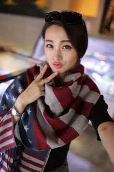 Cheap scarf yarn, Buy Quality scarf fabric directly from China scarf blue Suppliers: Women Unisex USA Stars American Flag Faux Wool Warm Scarves & Wraps For Lady Casual Patchwork Accessories 65*