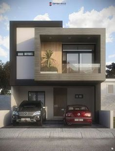 50 Amazing Minimalist Exterior House Design On A Budget Townhouse Designs, Duplex House Design, House Front Design, Small House Design, Dream Home Design, Modern House Design, Modern House Facades, Modern House Plans, Modern Architecture
