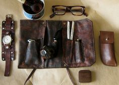 Leather Pipe Pouch by SorringowlandSons on Etsy ||| Rugged Homme