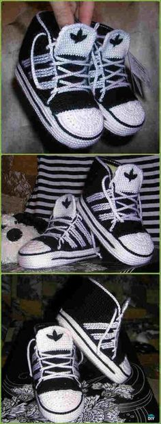 Crocheted Baby Sneakers - FREE Patterns