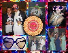 Venta de accesorios para fiesta: lentes grandes de diferentes colores y formas