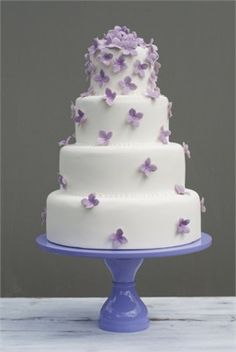 Lavender hydrangea cake - B Cake Studio (Lou's Idea for wedding cake)