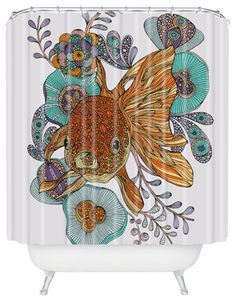 Valentina Ramos Little Fish Shower Curtain - eclectic - Shower Curtains - DENY Designs