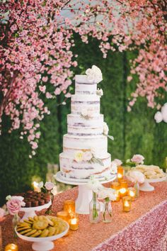 tall tiered naked cake
