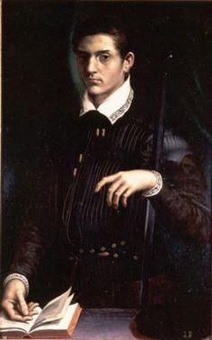 Альфонсо II д'Эсте(Alfonso II d' Este;22.11.1533-27.10.1597)гер.Феррары,Модены и Реджио(1559-97). При его правл.герц-во дост. наивыс.славы.Ко двору б.привл. Торквато Тассо,Баттиста Гуарини, Луццаско Луццаски,Эрколе Боттригари и Чезаре Кремонини. 3.07.1558 женил.на Лукреции де Медичи,доч.Козимо I Медичи и Элеоноры Толед.Чер.2г.она умерл.,предпол.,от отравл.ядом. 5.12.1565 женил.во 2-й раз на Барбаре Австрийской(30.04.1539 -19.09.1572)8-й доч.Фердинанда I,имп.Св.Рим.Имп.и Анны Богемской и…