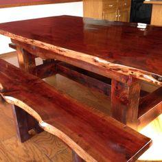 Free Plans For Boat Building Cedar Furniture, Outside Furniture, Living Furniture, Rustic Furniture, Rustic Table, Wooden Tables, Farmhouse Table, Farm Tables, Farmhouse Ideas