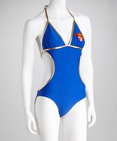 It doesn't take superpowers to look super at the pool or beach. Made from a stretchy nylon blend that deflects conformity and protects against boring days, this striking swimsuit will surely receive a superhero's welcome at any sunny-day event.