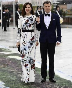 Realmyroyals:  80th Birthday Celebrations, Day 2, Opera House Dinner, May 10, 2017-Crown Princess Mary and Crown Prince Frederik
