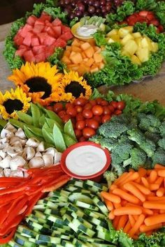 Perfection for fruit and veggie tray!!