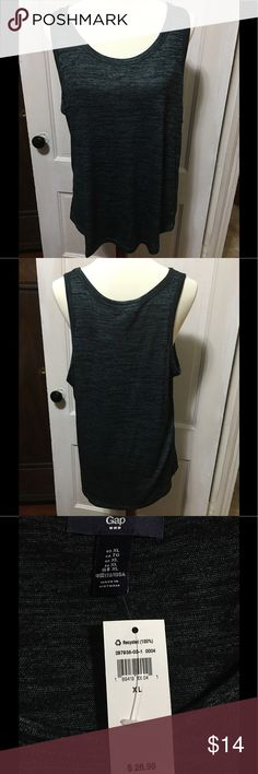 "🌺🌺GAP Tank Top🌺🌺 This GAP tank is a mixture of forest green and black. Pit to pit is 21"" and shoulder to hem is 27"".🌺🌺🌺🌺🌺🌺🌺🌺🌺🌺 GAP Tops Tank Tops"