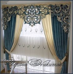 New Living Room Curtains Ideas With Blinds Valances Window Cornices Ideas Bedroom Curtains With Blinds, Curtains Living, Window Curtains, Window Cornices, Window Coverings, Window Treatments, Valances, Elegant Curtains, Modern Curtains