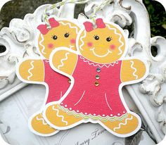 NEW  Gingerbread Girl Christmas Tags  Set by LittlePaperFarmhouse, $6.75