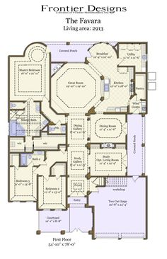 First Floor Plan of Traditional House Plan 67457 way more than I