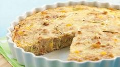Recipes+ shows you how to make this tuna corn and onion quiche recipe Tuna Recipes, Quiche Recipes, Potluck Recipes, Seafood Recipes, Cooking Recipes, Cooking Ideas, Tuna Quiche, Quiche Dish, Tuna Pie