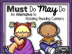 1st Grade Pandamania: MUST Do MAY Do: An Alternative to Rotating Reading Centers