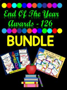 BUNDLE - 126 End Of The Year Awards - YOU SAVE $5.09 | TpT Learning Centers, Literacy Centers, Thing 1, Teaching Materials, Elementary Math, Math Resources, In Kindergarten, Social Studies, Special Day