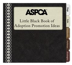 Little Black Book of Adoption Promotions - Funny Animals Shelter Dogs, Animal Shelter, Rescue Dogs, Animal Rescue, Shelters, Little Black Books, Animal Welfare, Pet Store, Animal Design