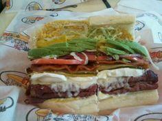 The Santa Cruz: Pastrami, avocado, bacon and cream cheese. Cal. 1150