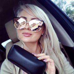 a791177966e Available as shown Oversized Mirror Plastic lenses Plastic frame · Rose Gold  GlassesBig ...
