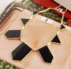 Дэвид ювелирные изделия оптовая продажа X224 мода аксессуары черный геометрия нерегулярные ожерелье себе ожерелье